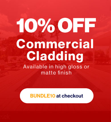10% off commercial cladding
