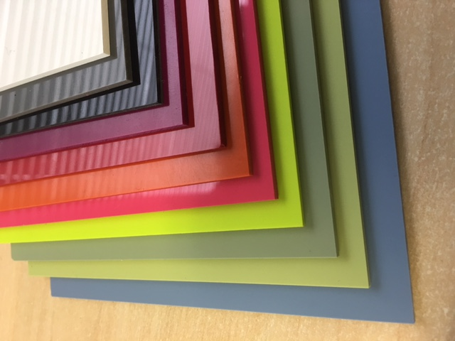 Hygienic PVC 2.5mm Wall Cladding 3050mm x 1220mm in a range of vibrant colours